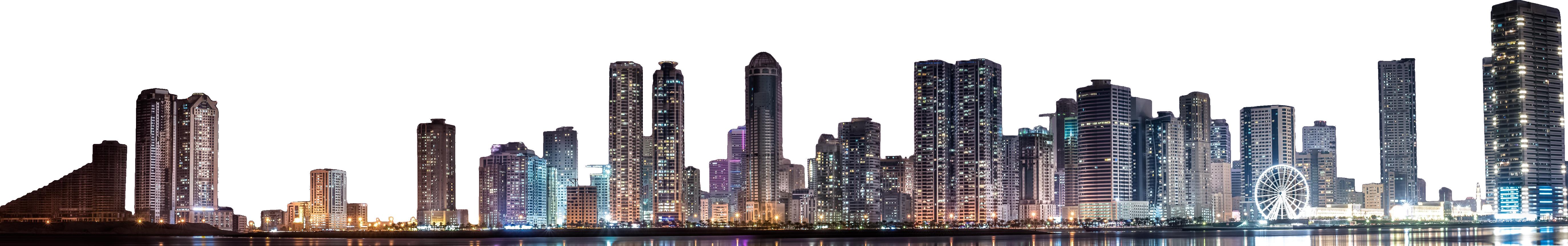 Skyline Wide Night PNG Image