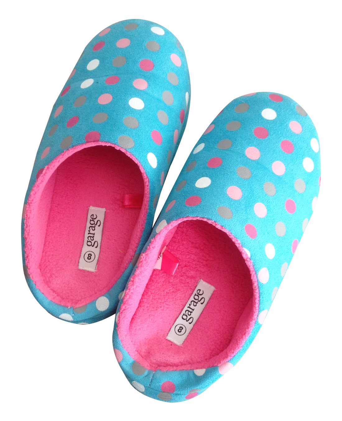 Slippers Garage Blue and Pink PNG Image