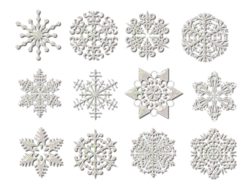 Christmas Snowflake Collection PNG Image