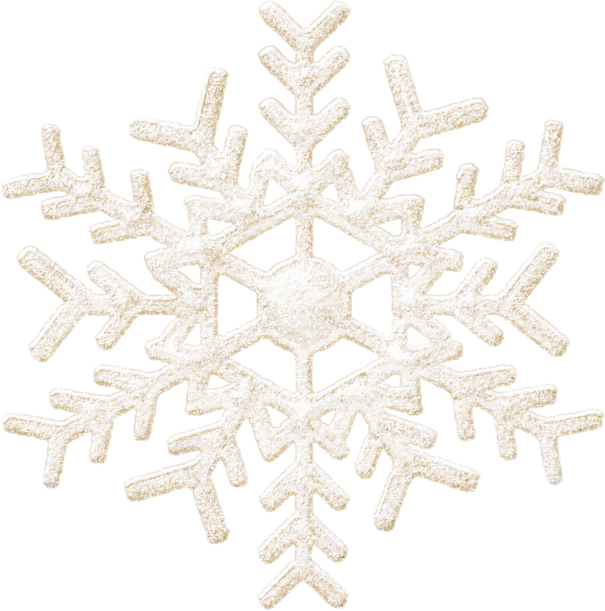 Frozen Christmas Snowflake PNG Image