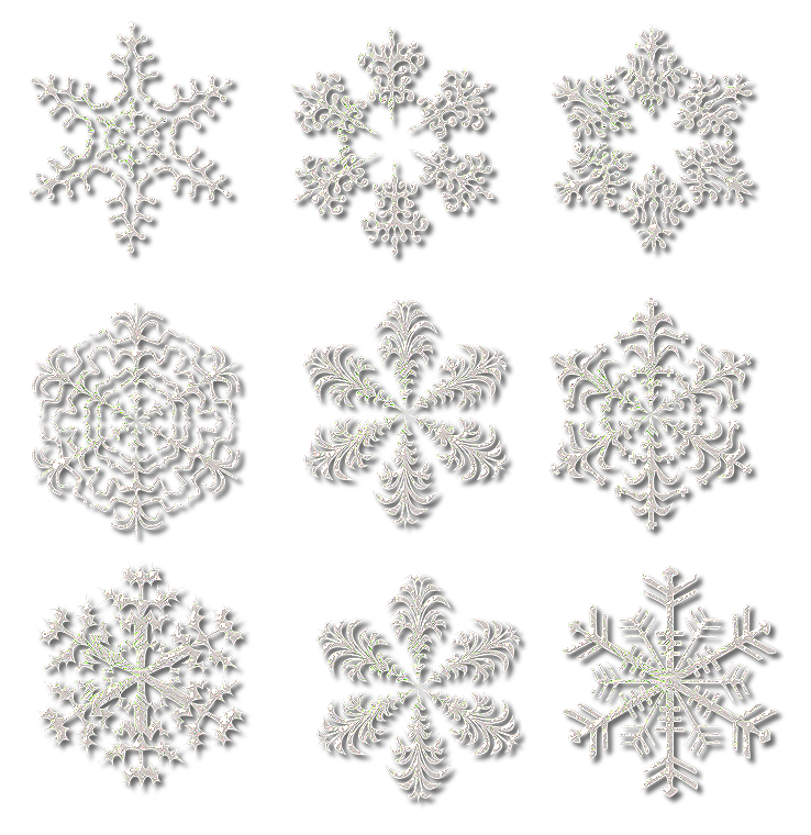 Frozen Snowflake Collection  PNG Image
