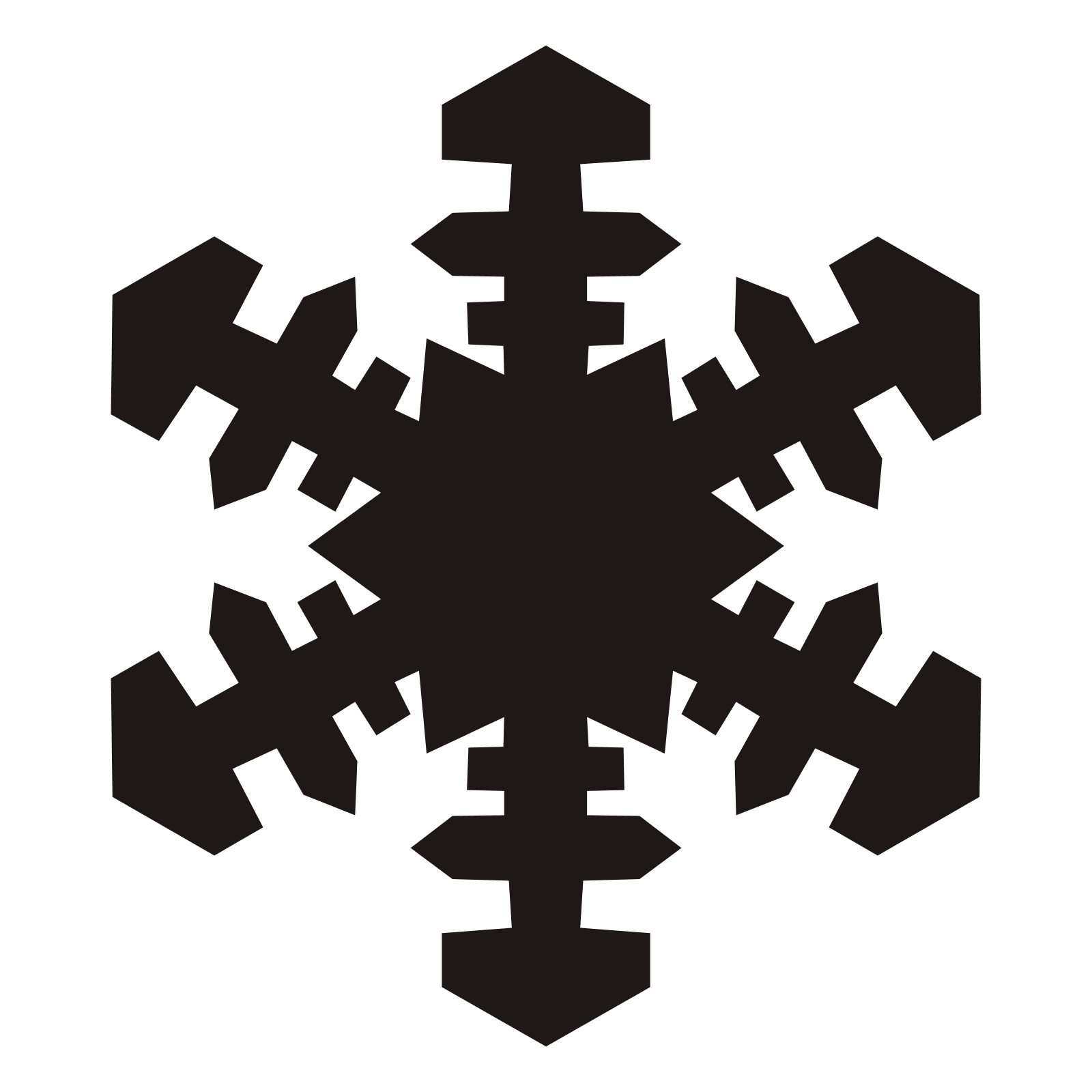 Icy Snowflake PNG Image
