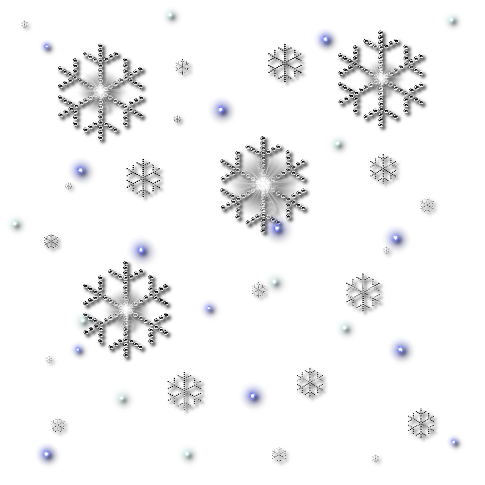 Glitter Snowfall Collection PNG Image