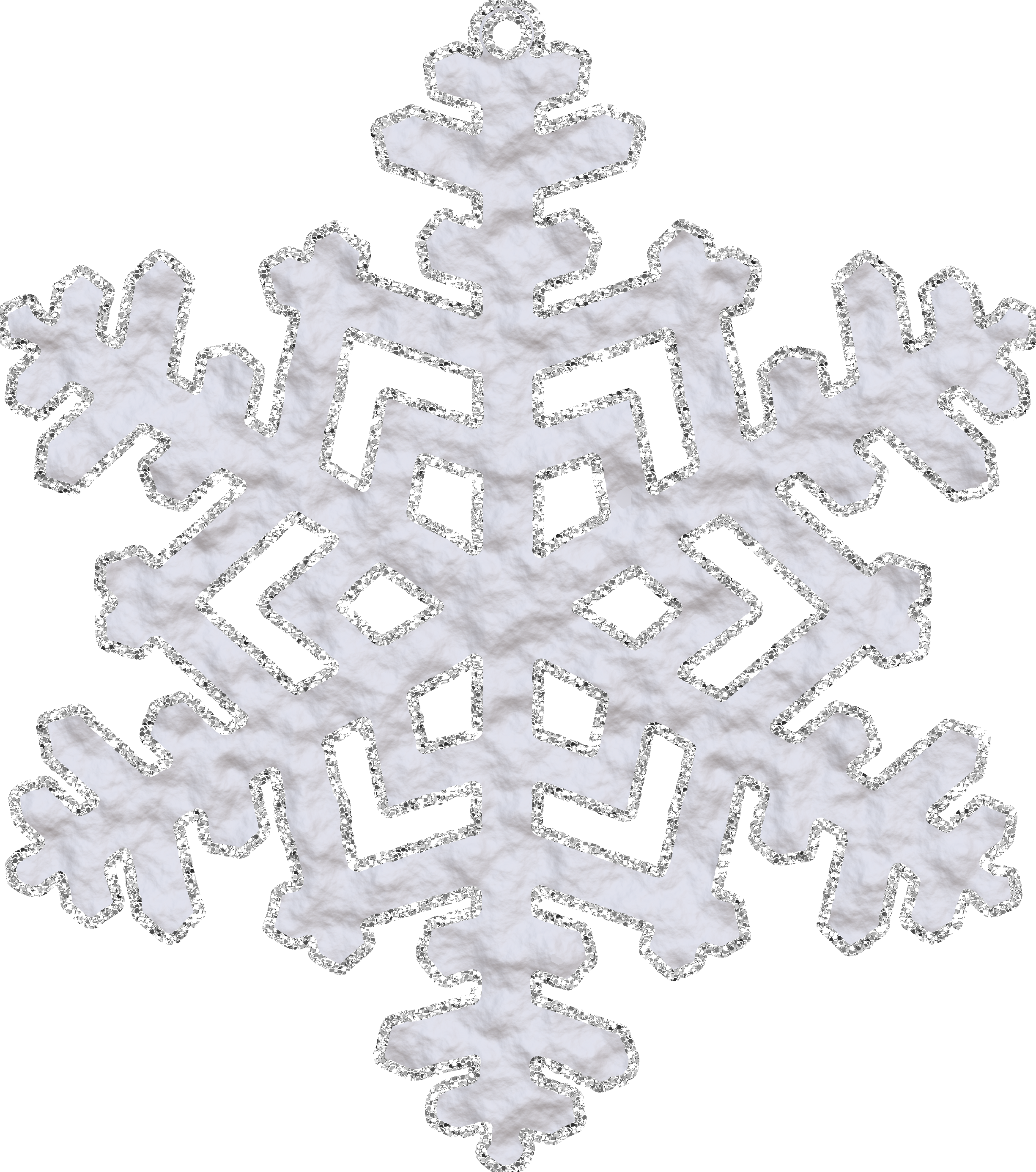 Snowflake with Glitter PNG Image
