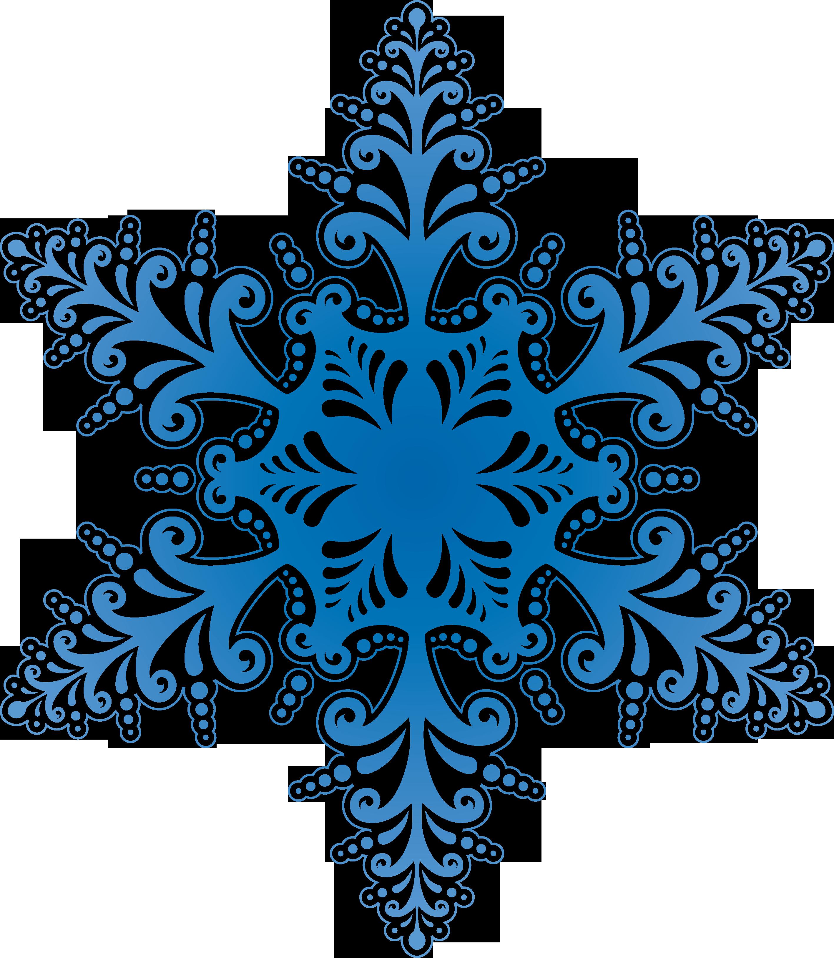 Blue Winter Snowflake PNG Image