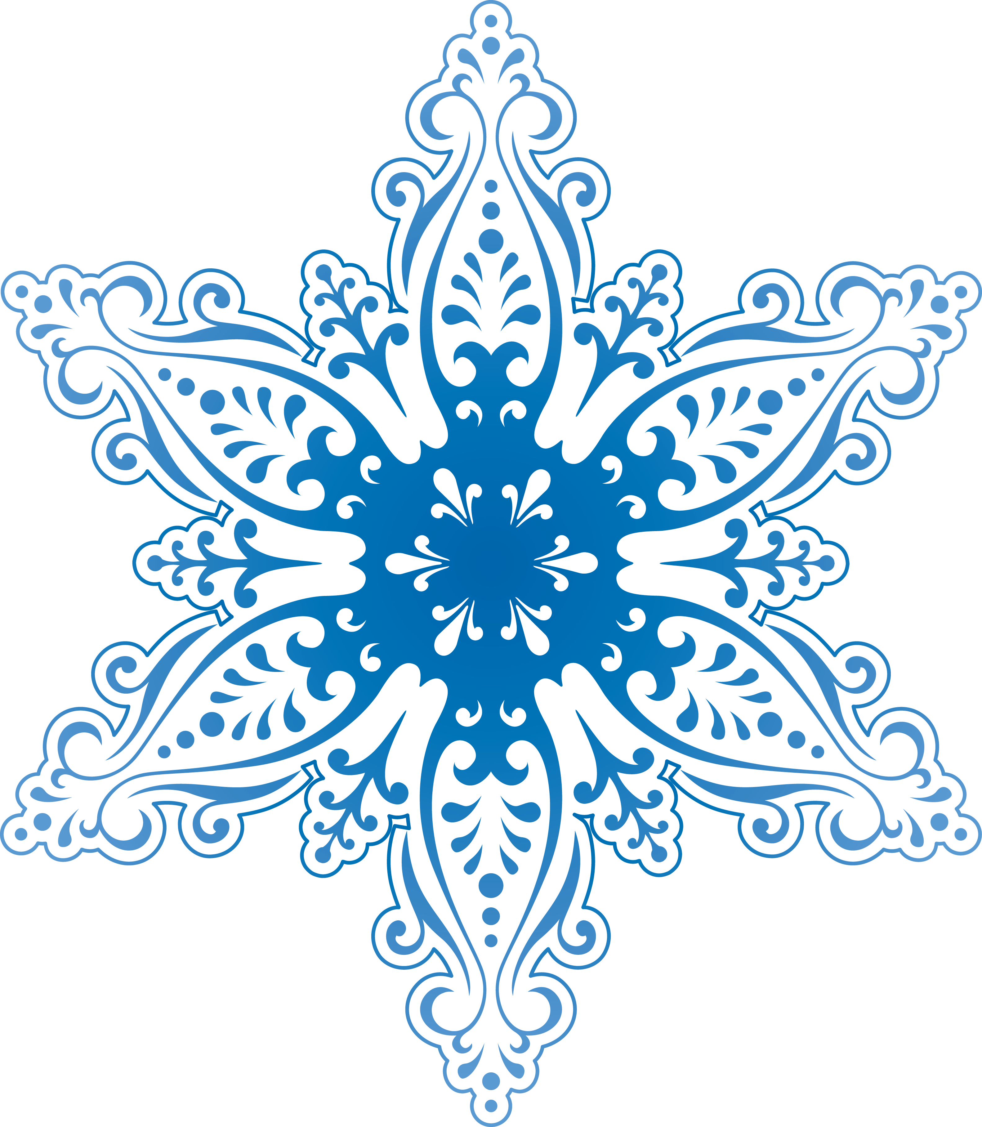 Frosty Snowflake Winter PNG Image