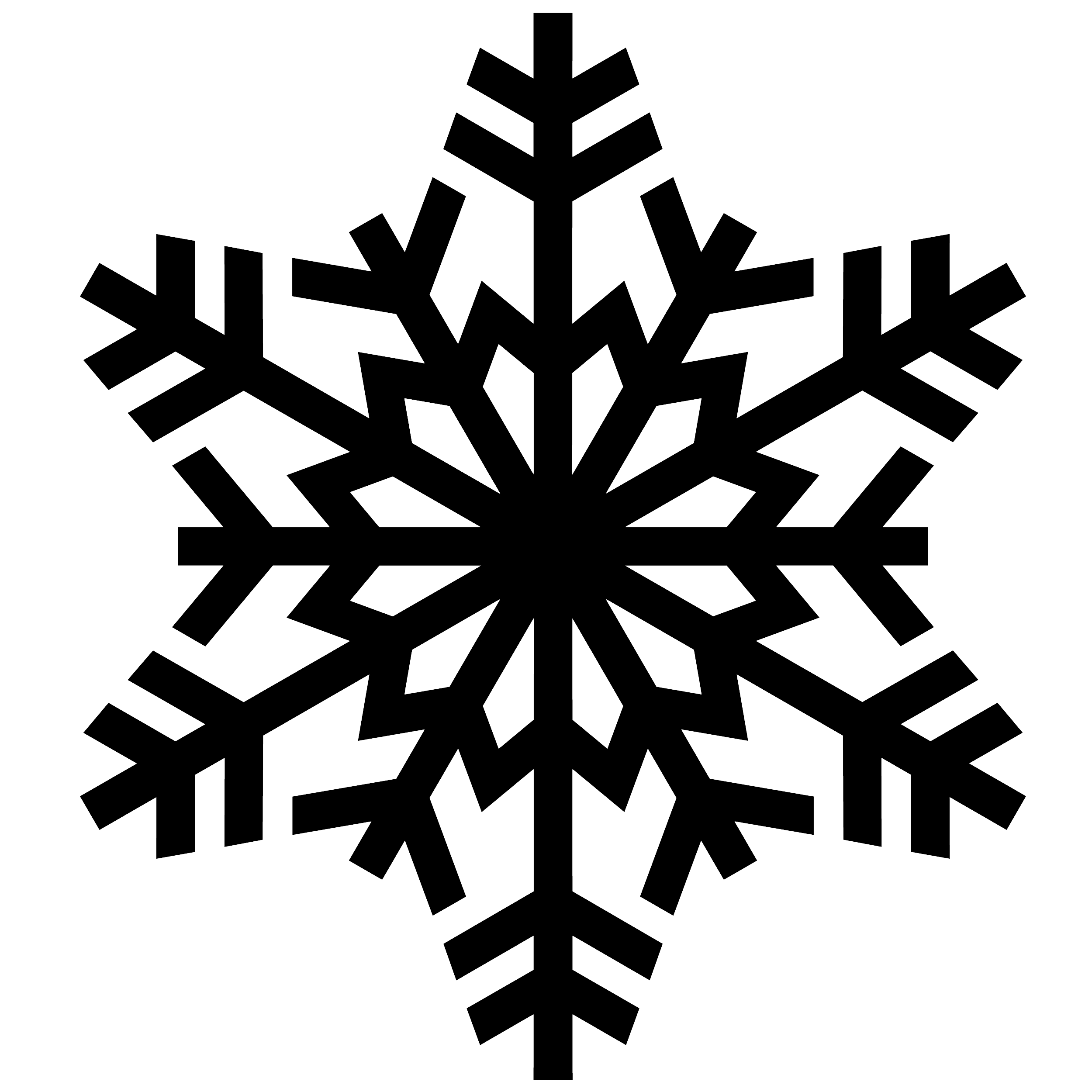 Tiny Snowy Snowflake PNG Image