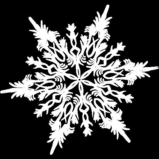 White Tiny Snowflake PNG Image