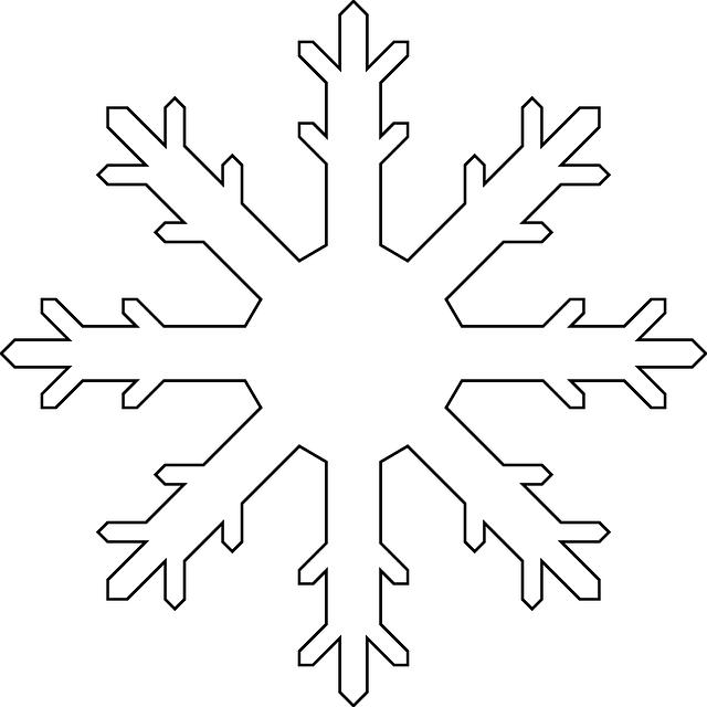 Frozen White Snowflake PNG Image