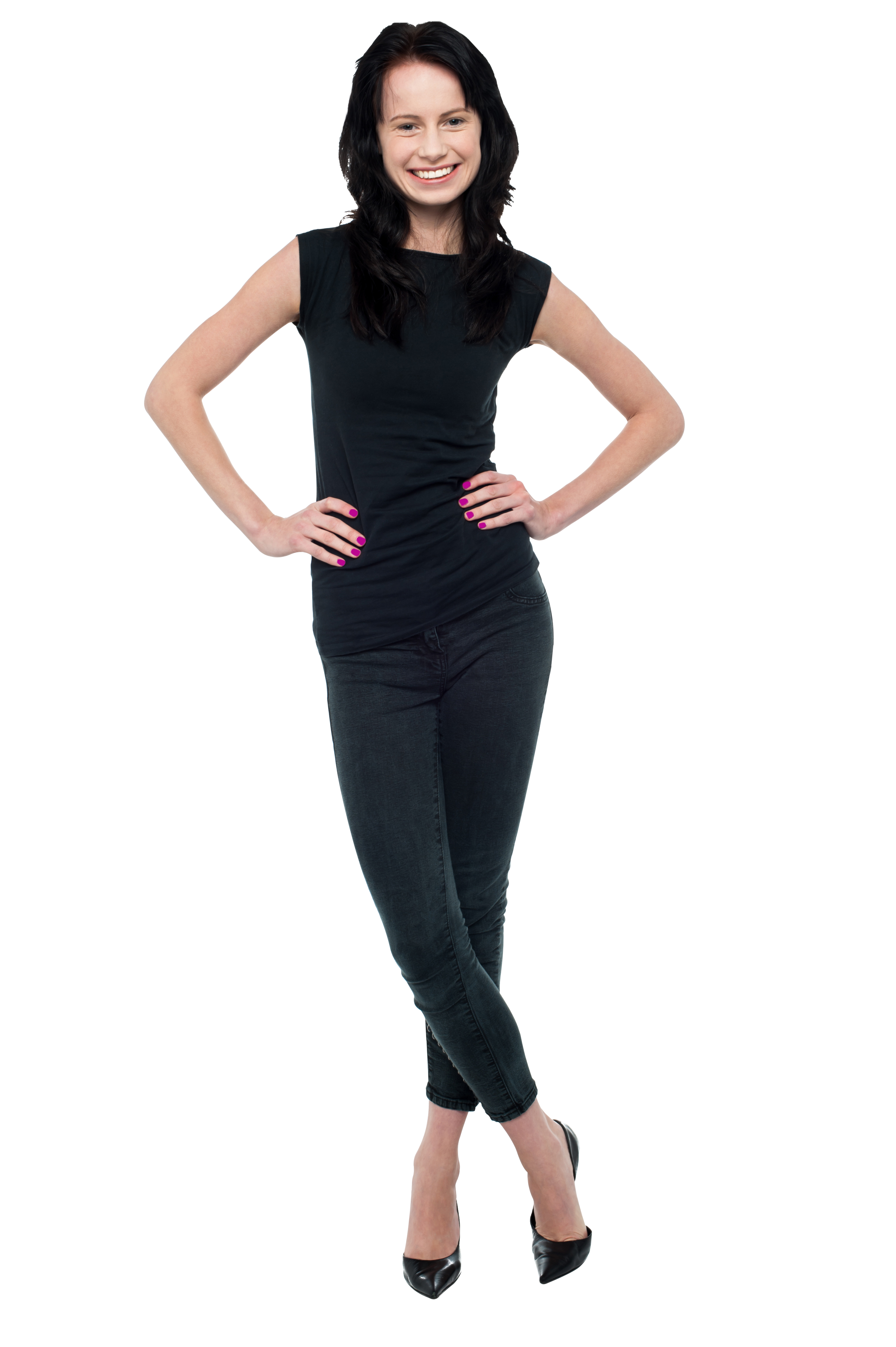 Standing Girl PNG Image PurePNG Free Transparent CC0