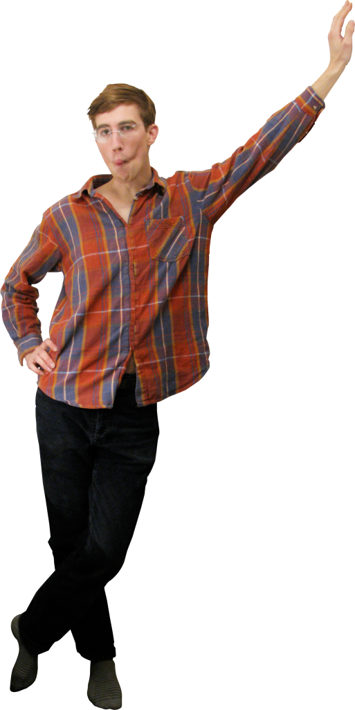 Standing Leaning PNG Image