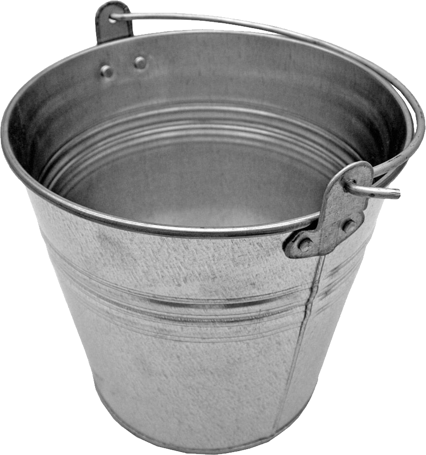 Steel Bucket PNG Image