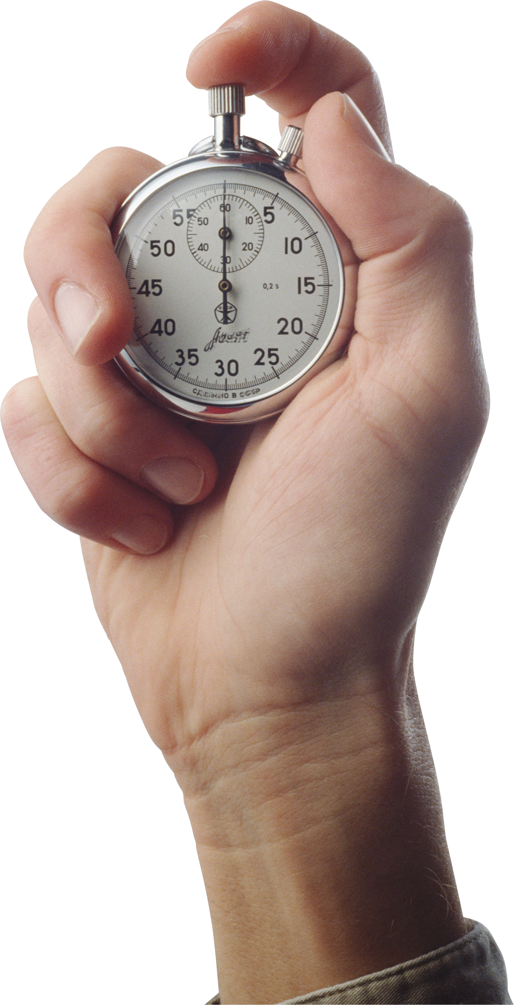 Stop Watch On Hand PNG Image