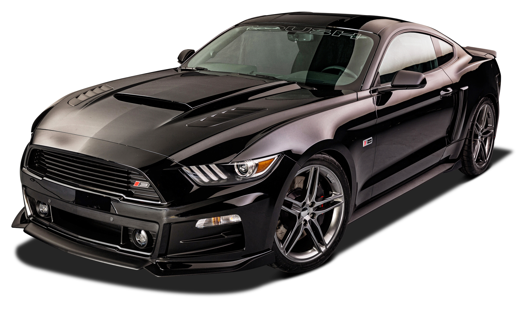 Stylish Black Ford Roush RS Mustang Car