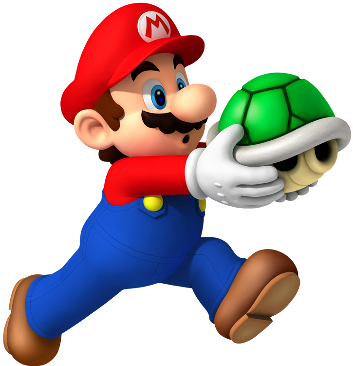 Super Mario With Shell