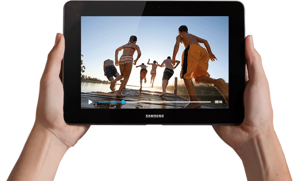 Tablet In Hand PNG Image