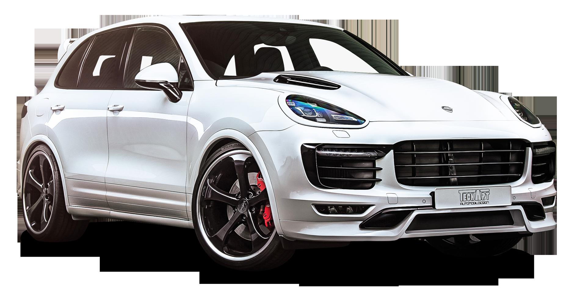 Techart Porsche Cayenne White Car
