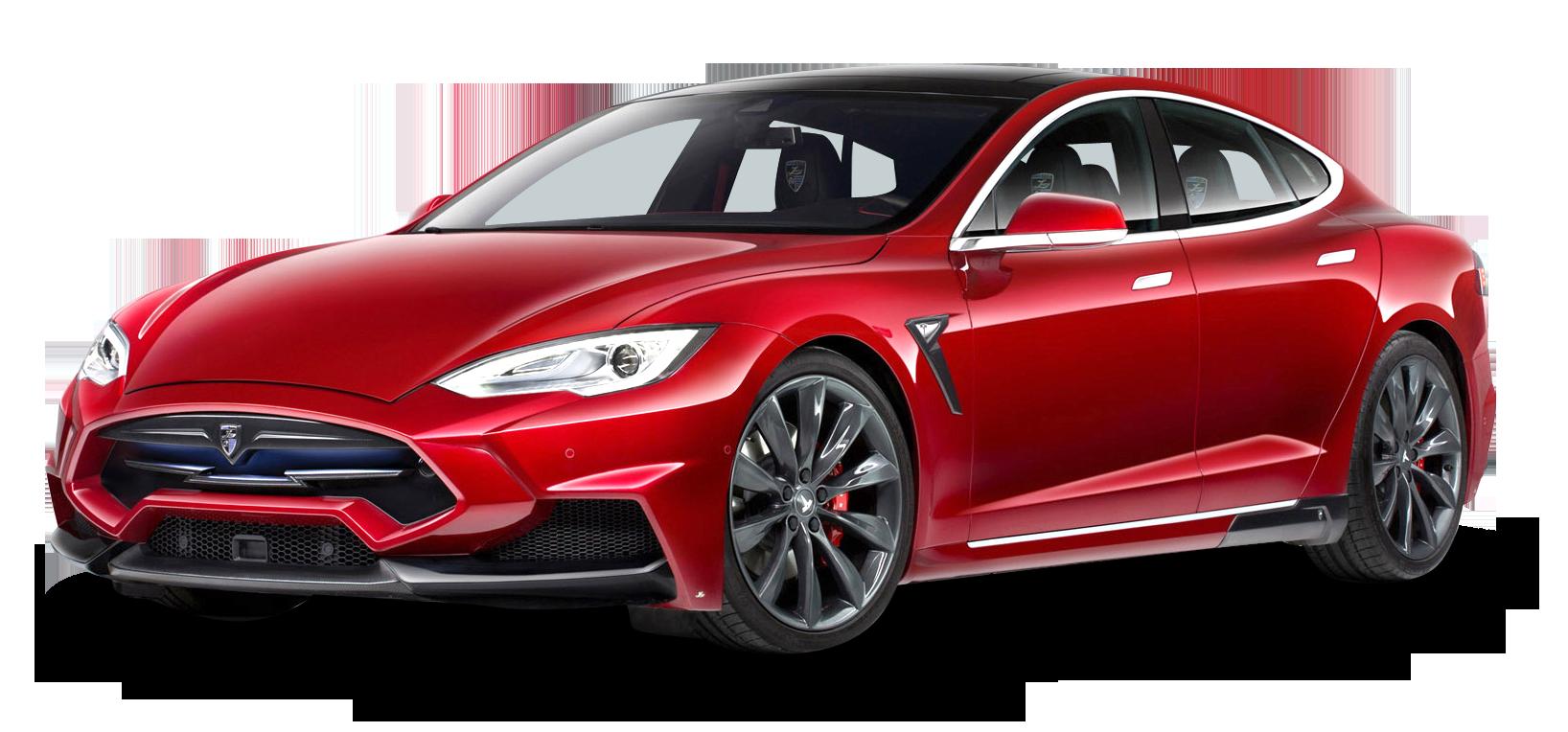 Tesla Model S Red Car