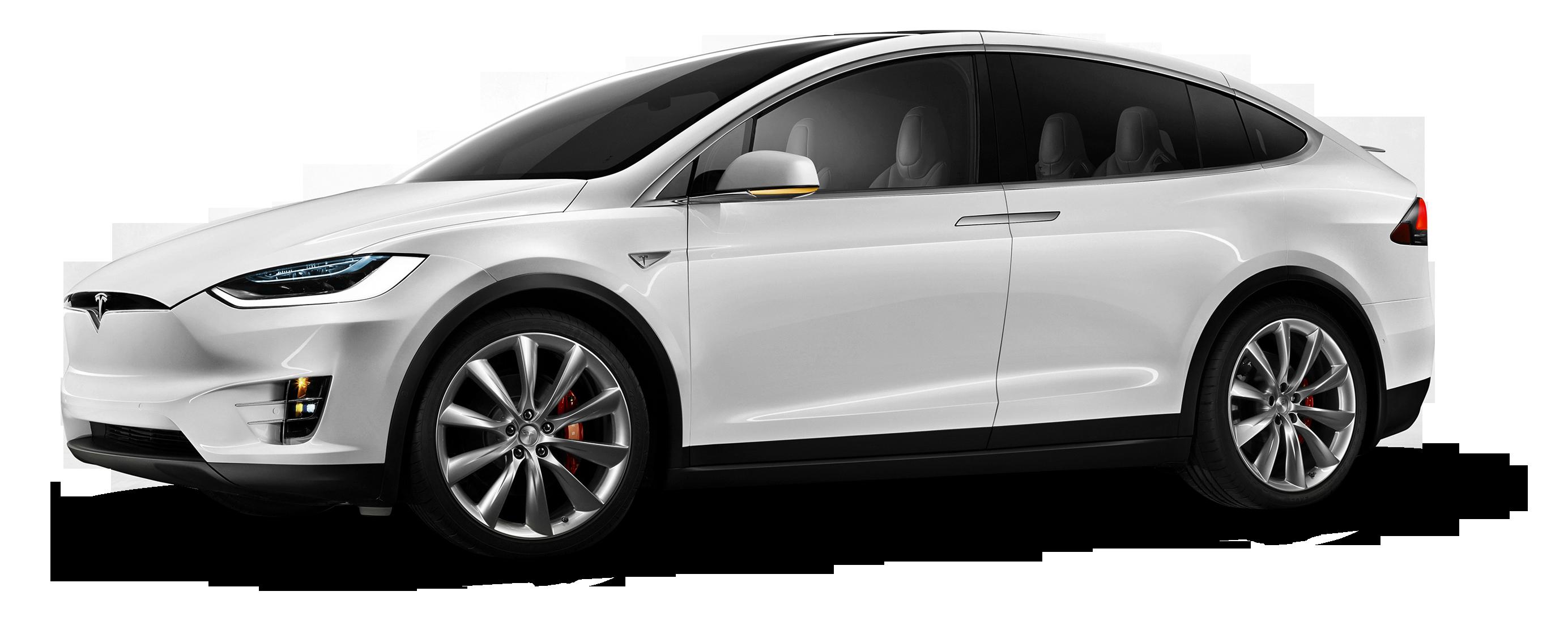 Tesla Model X White Car