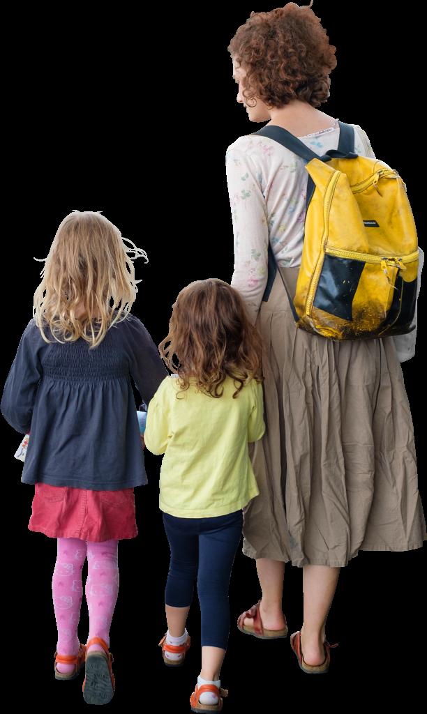 The Children On A Walk