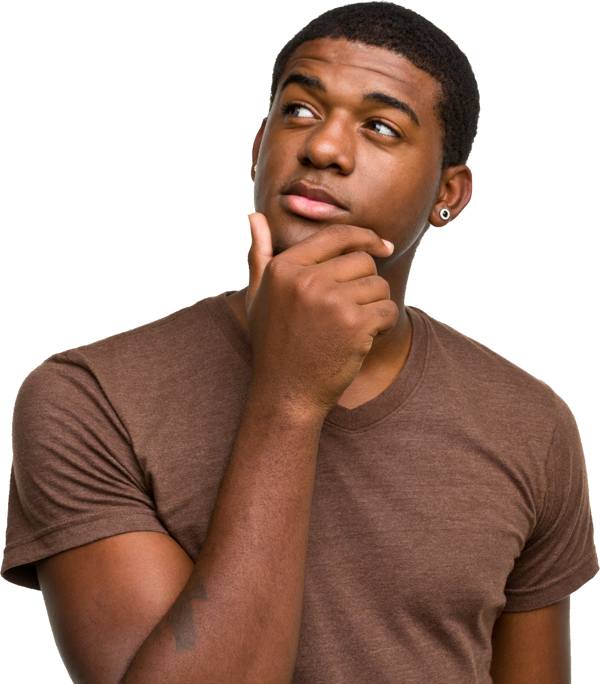 Thinking Man PNG Image