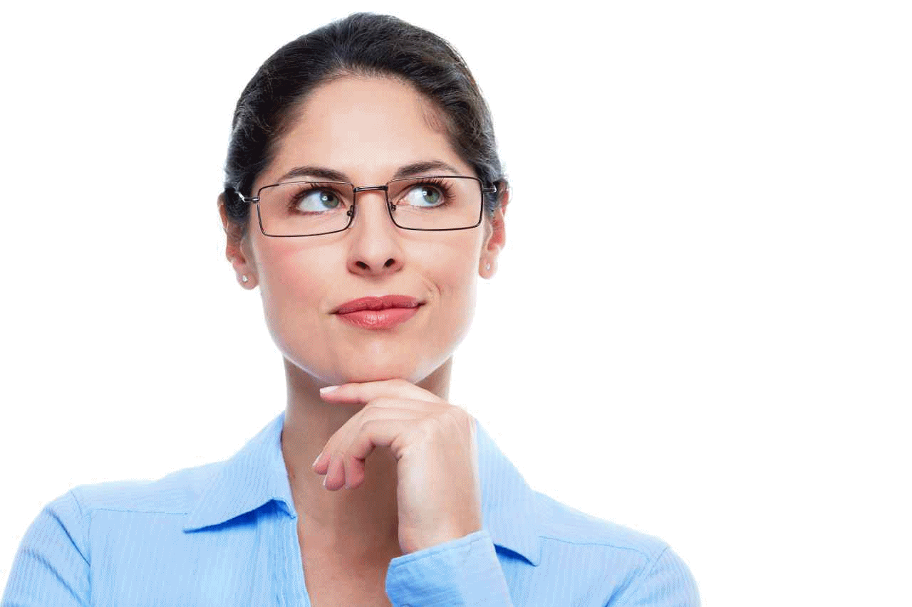 Thinking Woman PNG Image