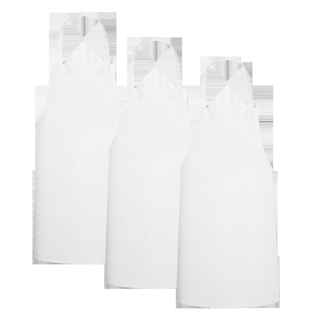 Three Large White Kids Aprons PNG Image