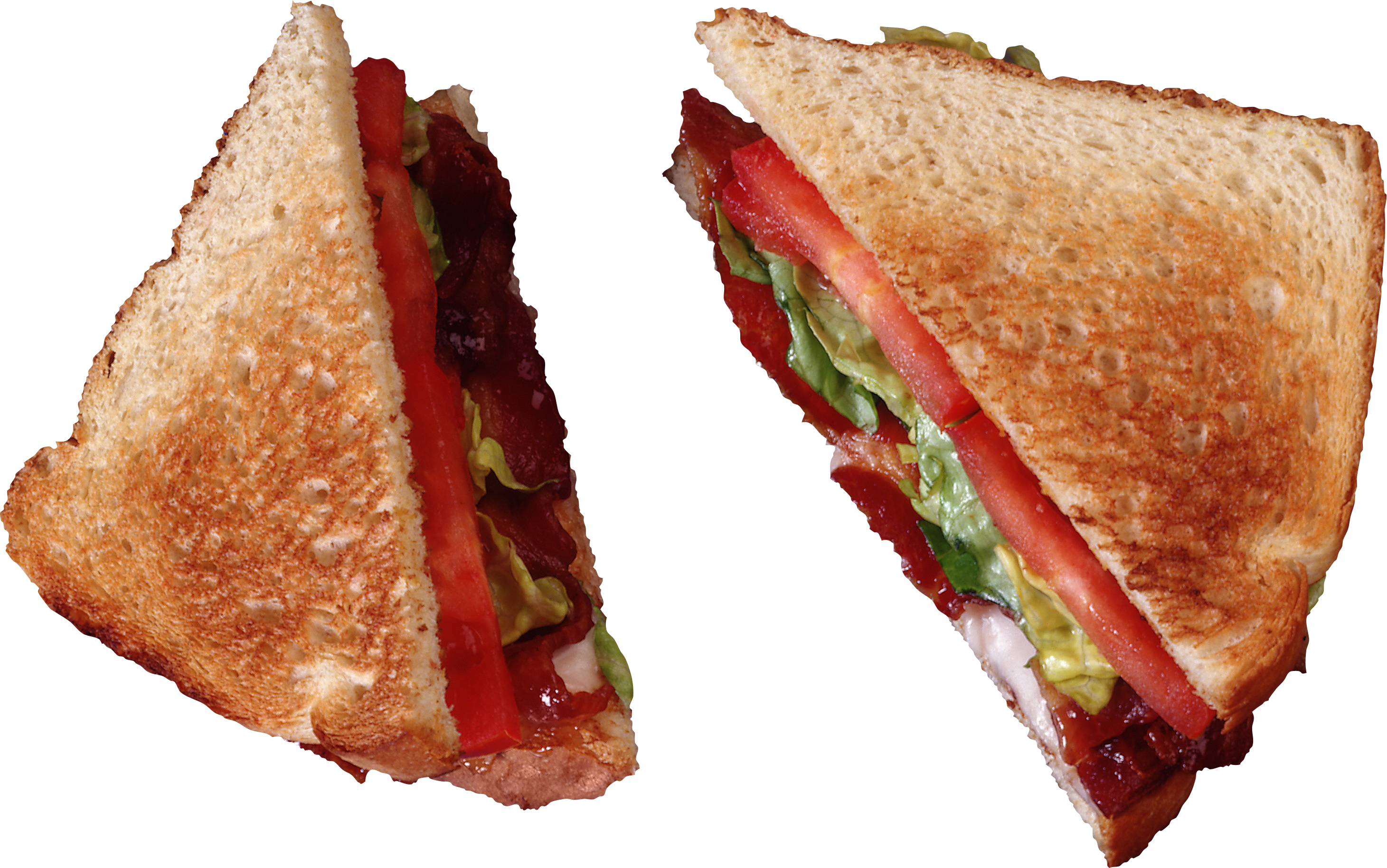 Toast Halved PNG Image