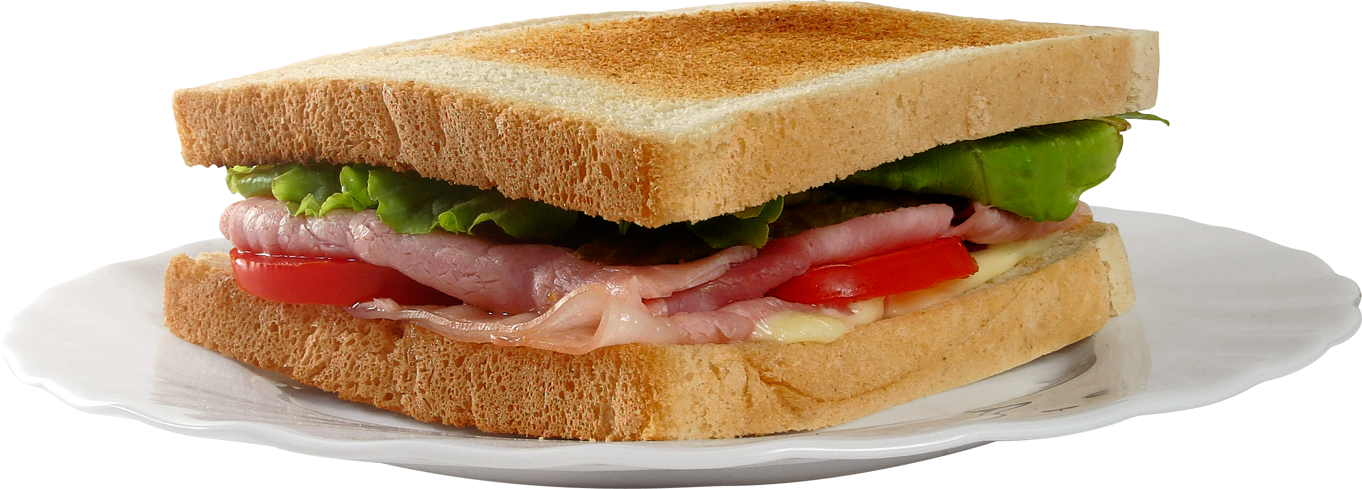 Toast on Plate PNG Image