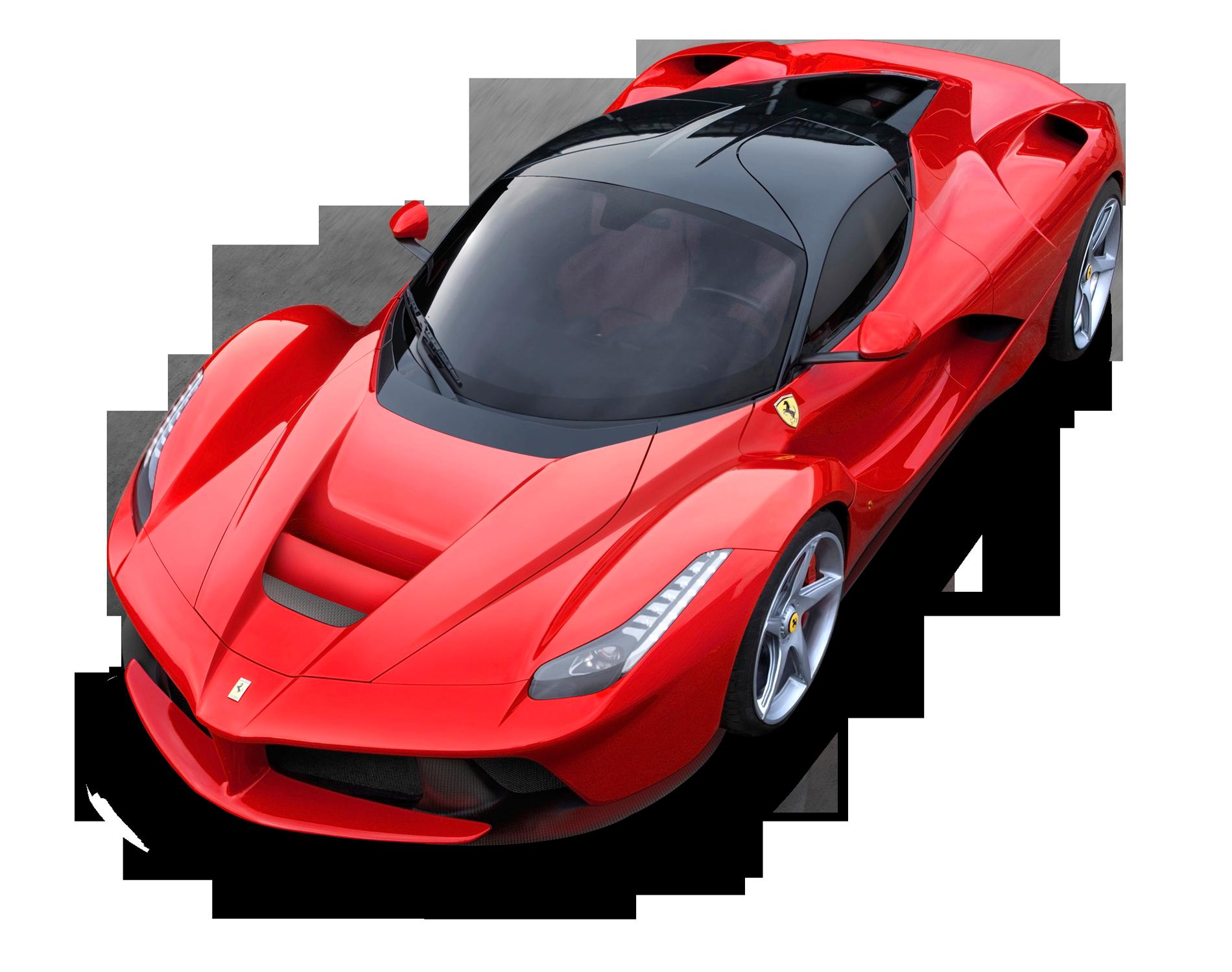 Top View of Ferrari LaFerrari Car