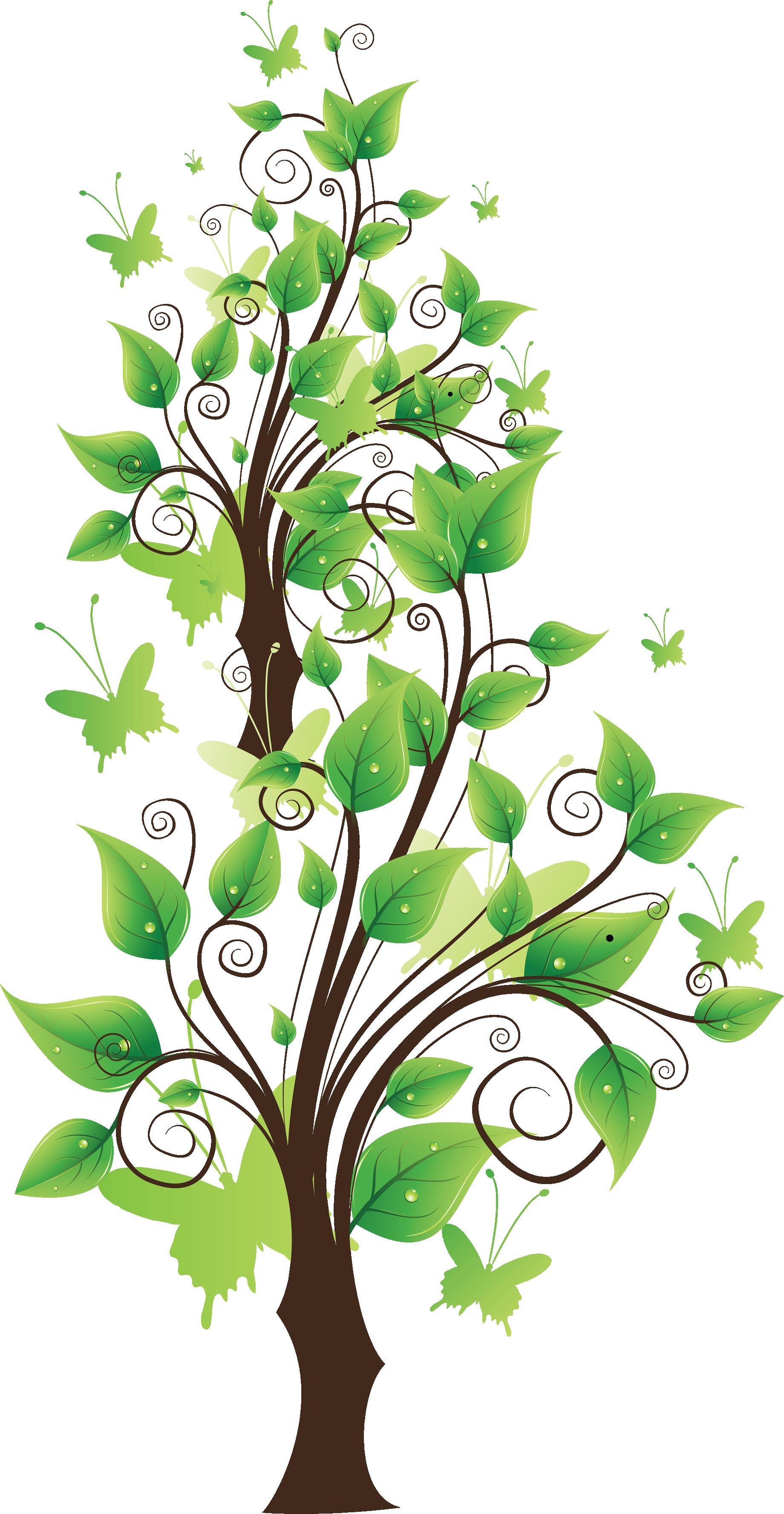 Fairy Leaf Tree PNG Image