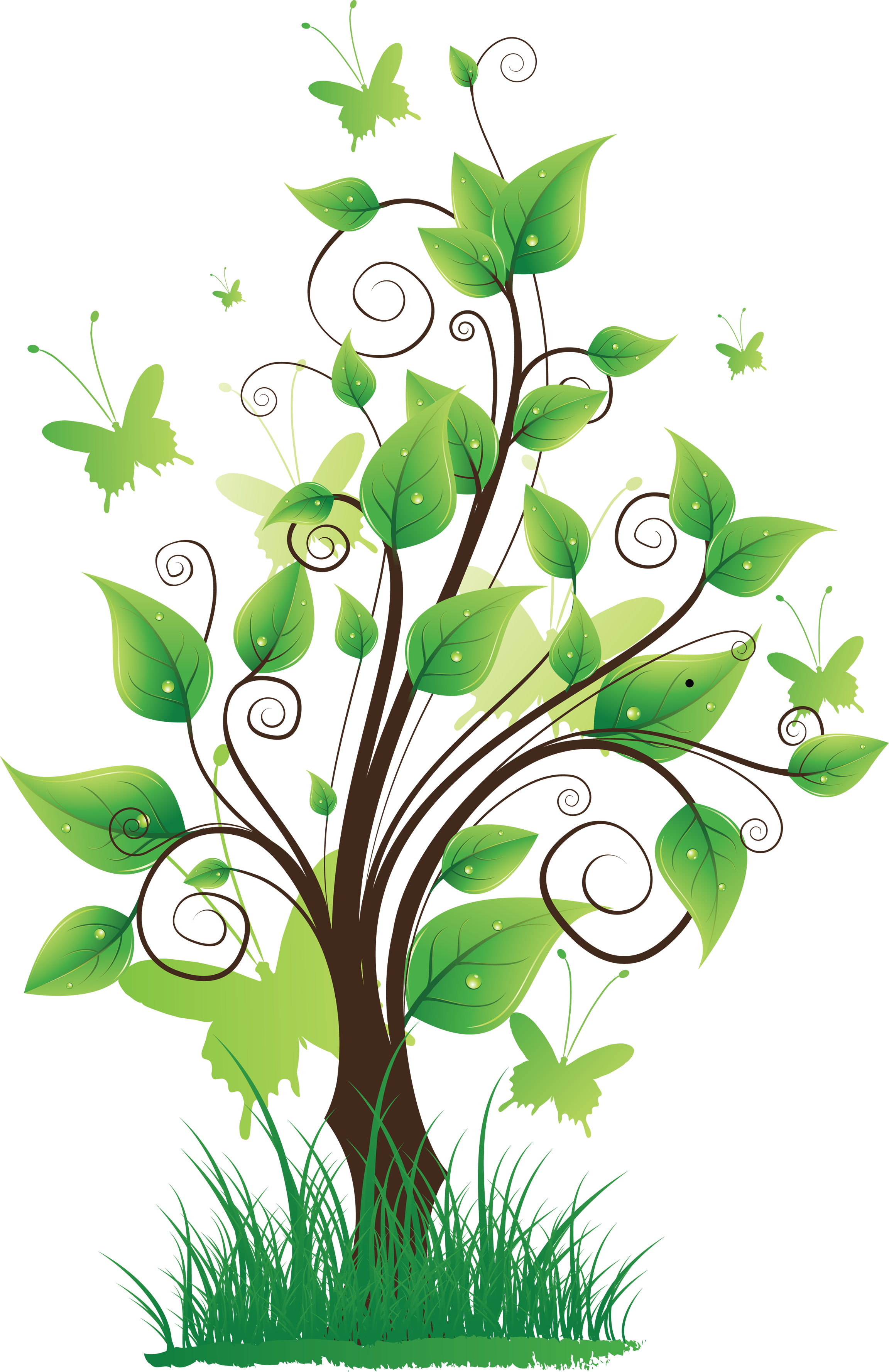 Tree with Grass PNG Image