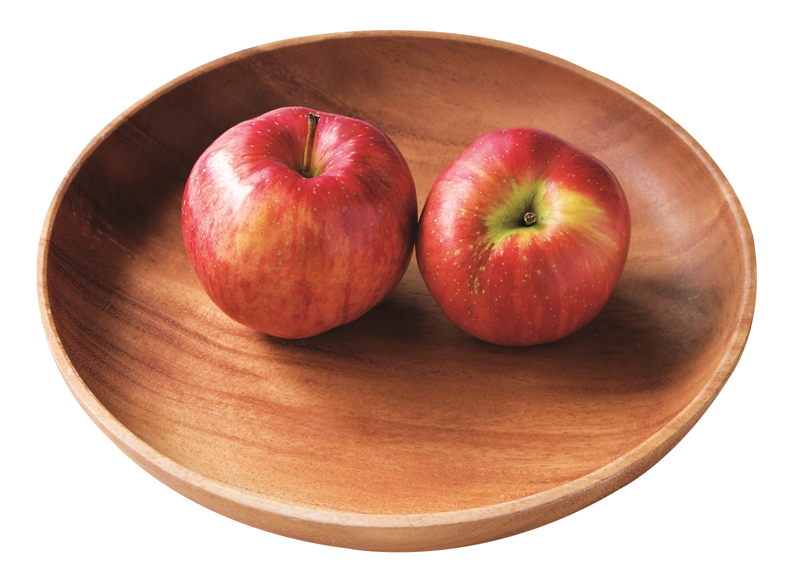 Two Red Apples in Plate PNG Image