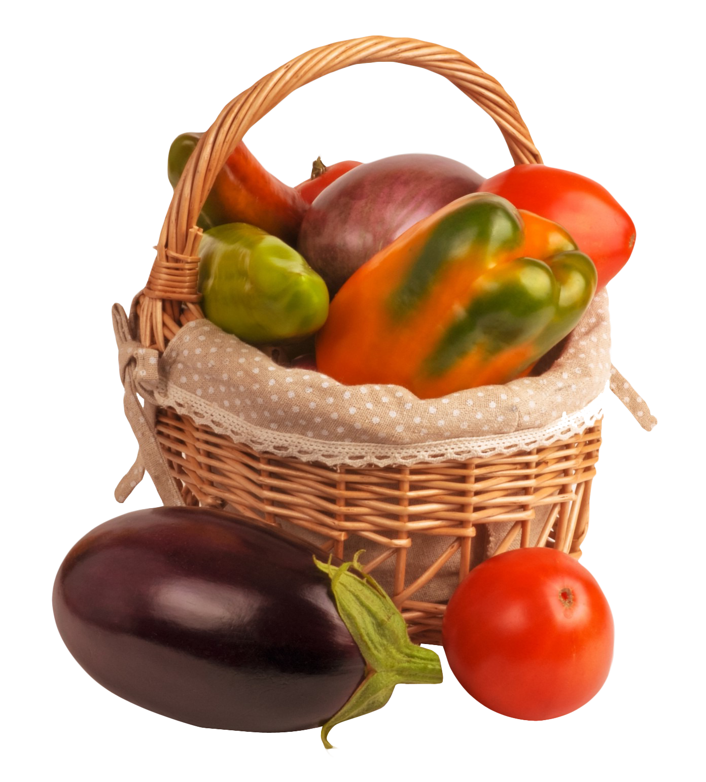 Vegetable Basket PNG Image