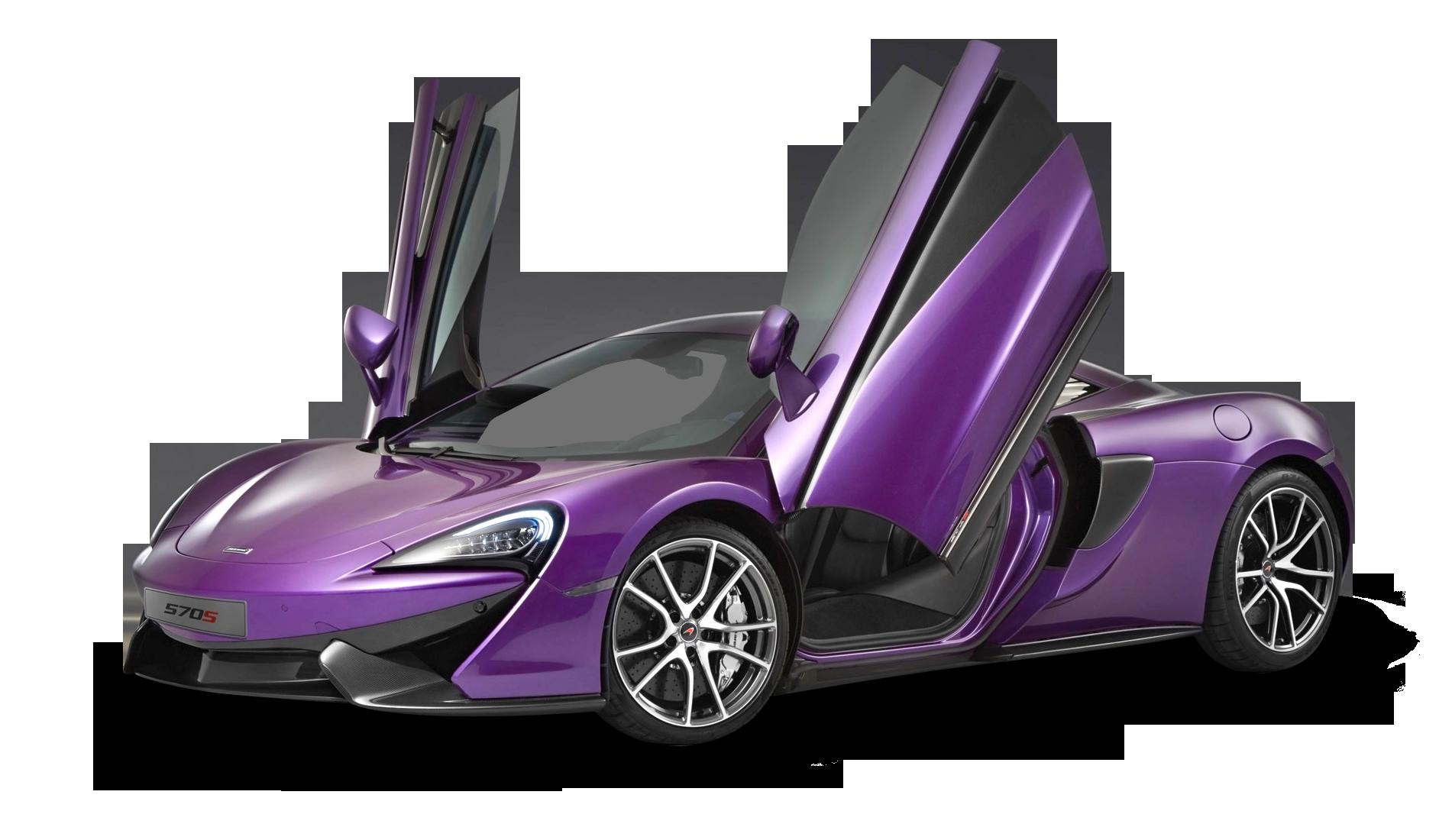 Violet McLaren 570s Car