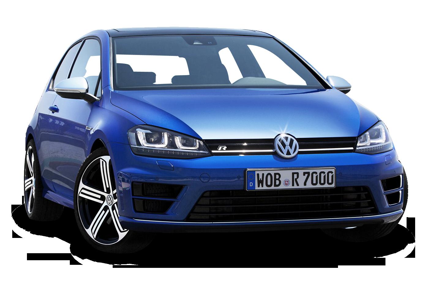 Volkswagen Golf Blue Car PNG Image