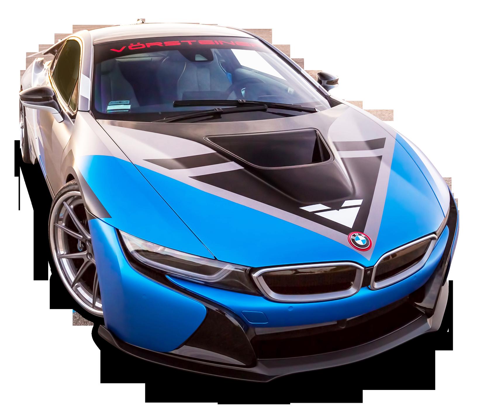 Vorsteiner Bmw I8 Vr E Blue Car Png Image Purepng Free