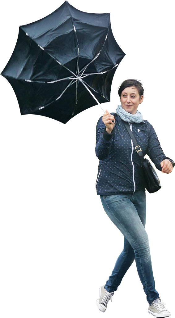 Walking In The Rain PNG Image