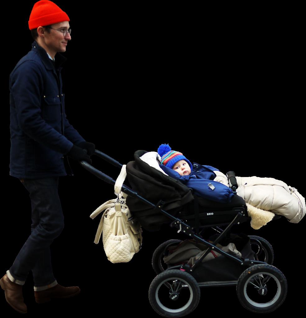 Walking Stroller PNG Image