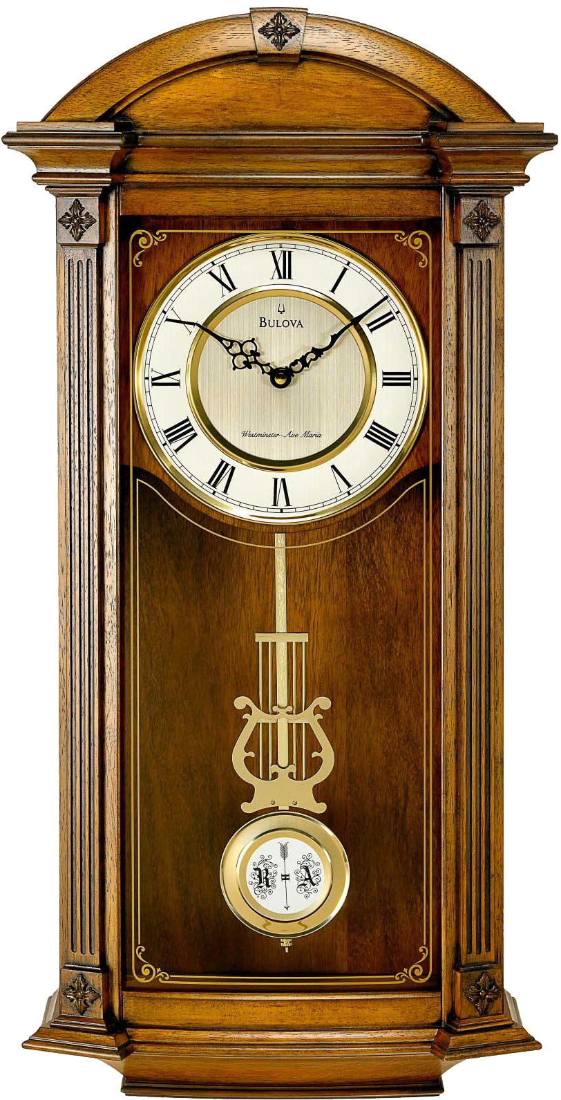 Wall Bell Clock PNG Image