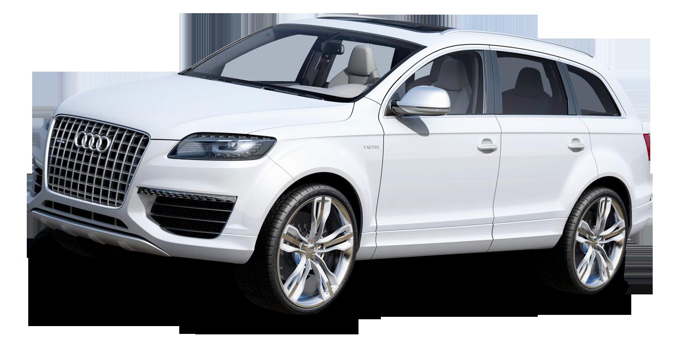 White Audi Car PNG Image