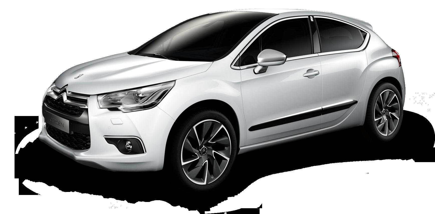White Citroen DS4 Car PNG Image