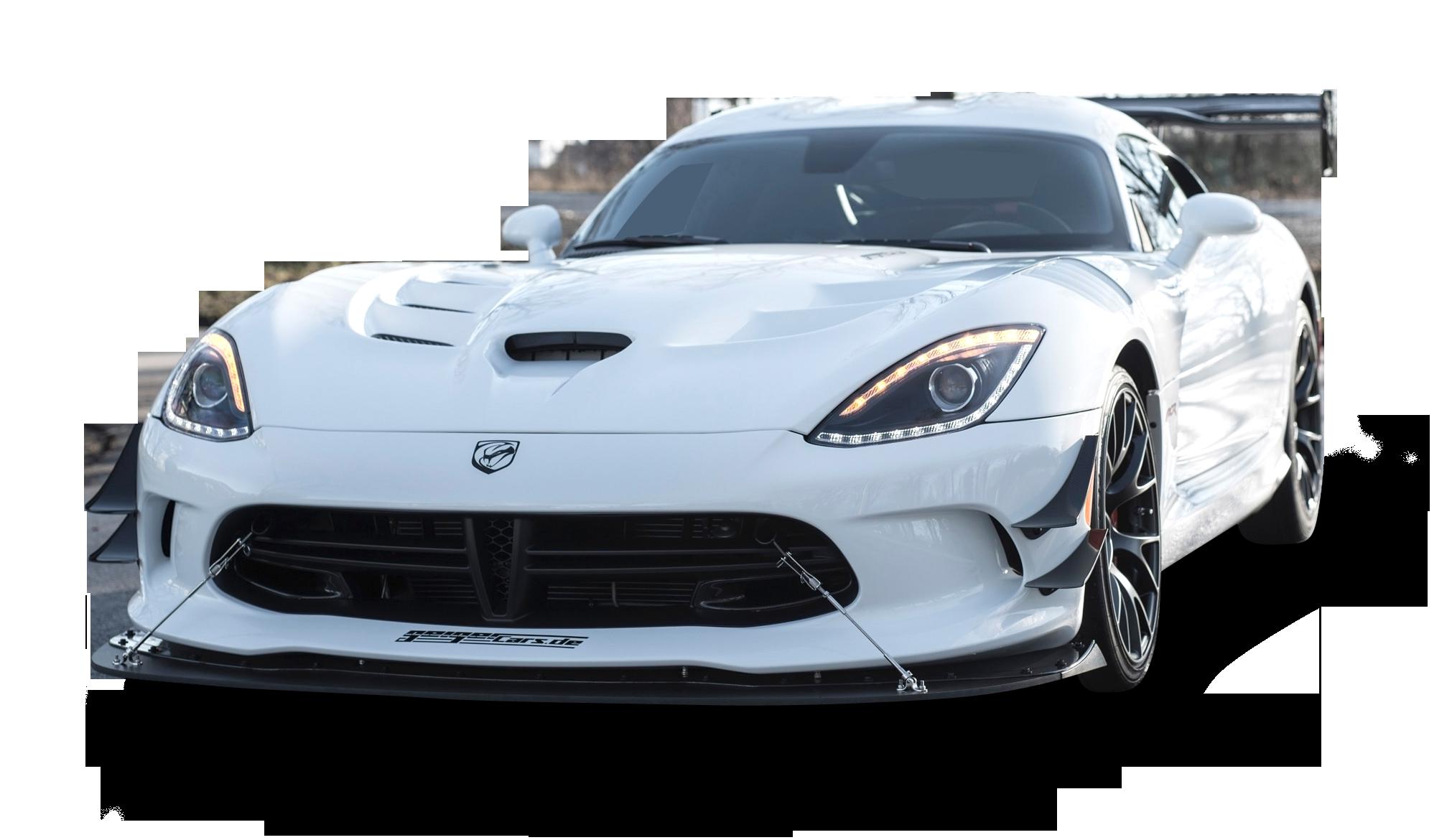 White Dodge Viper ACR Car