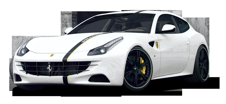 White Ferrari FF Car PNG Image