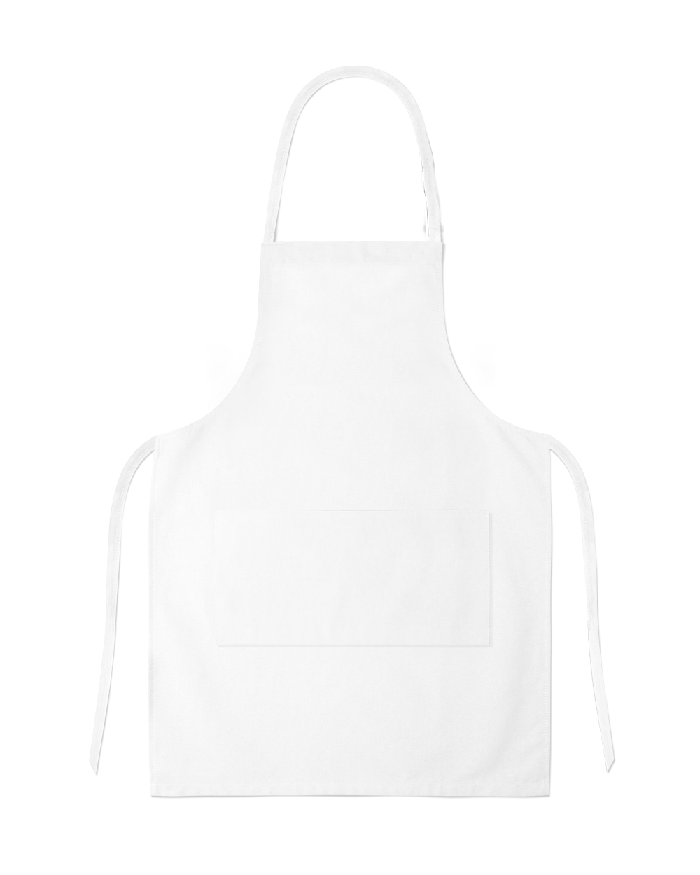 White Full Apron With Pocket PNG Image