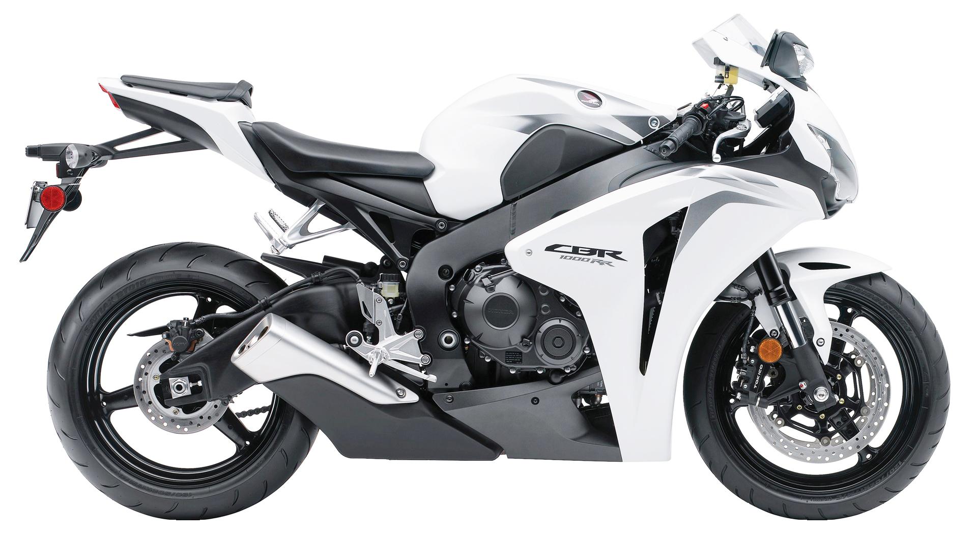 White Honda CBR1000RR PNG Image