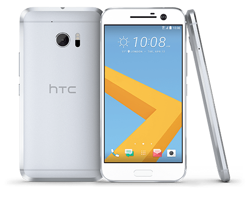 white htc phone PNG Image