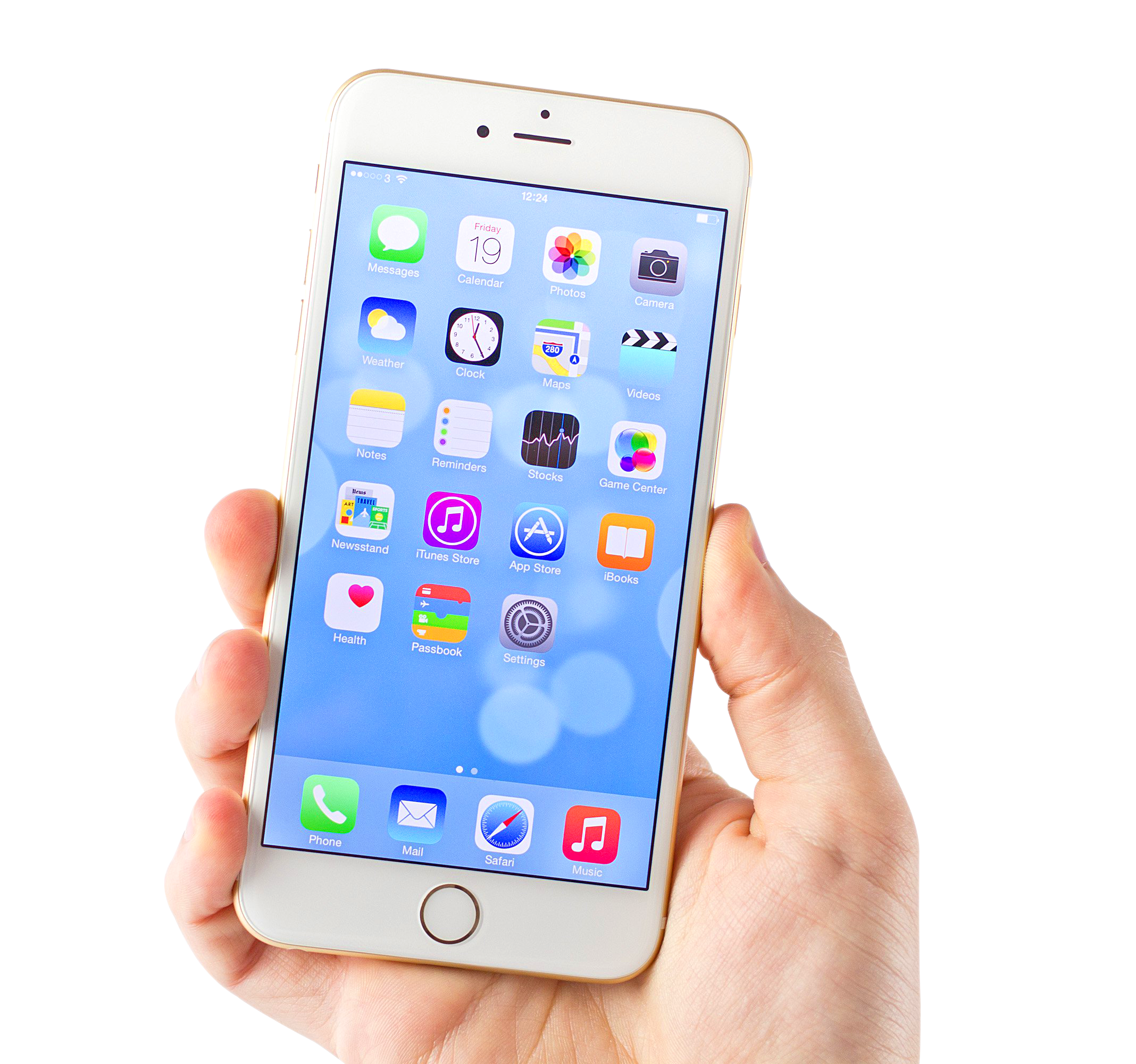 White iPhone 6 PNG Image