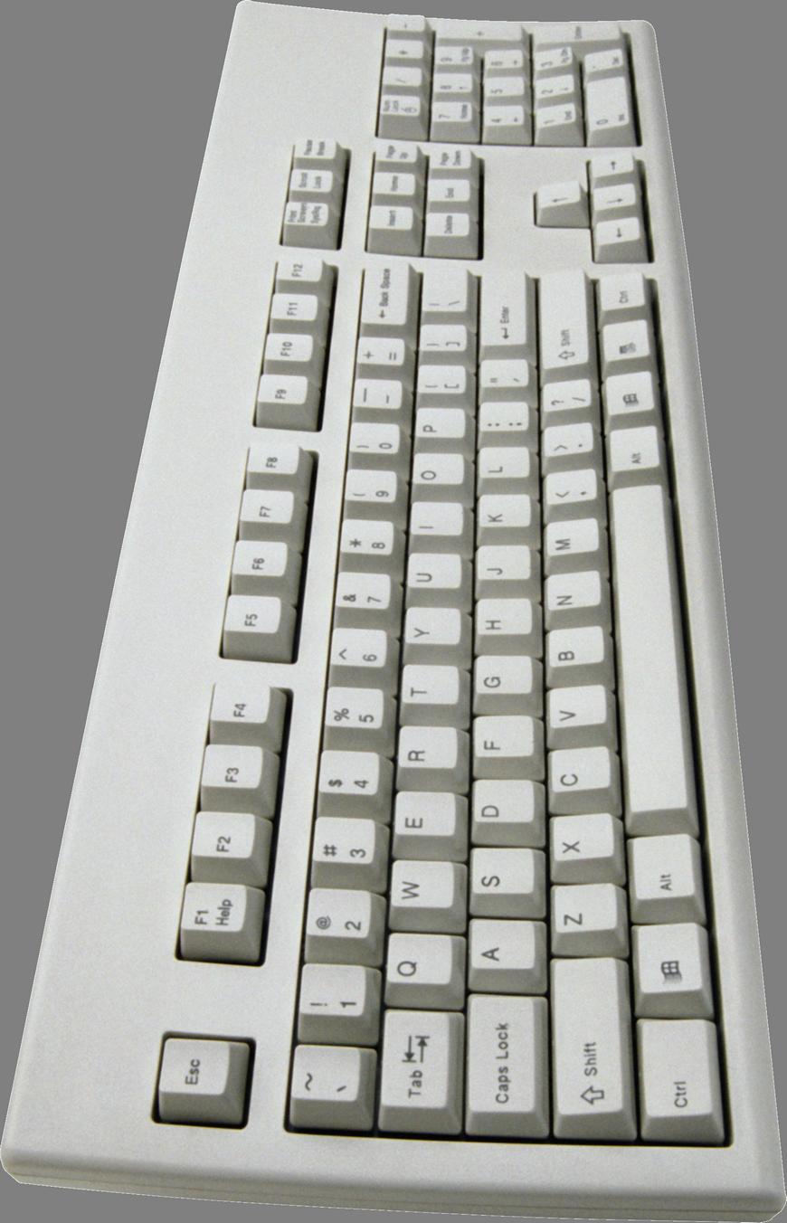 White Keyboard PNG Image