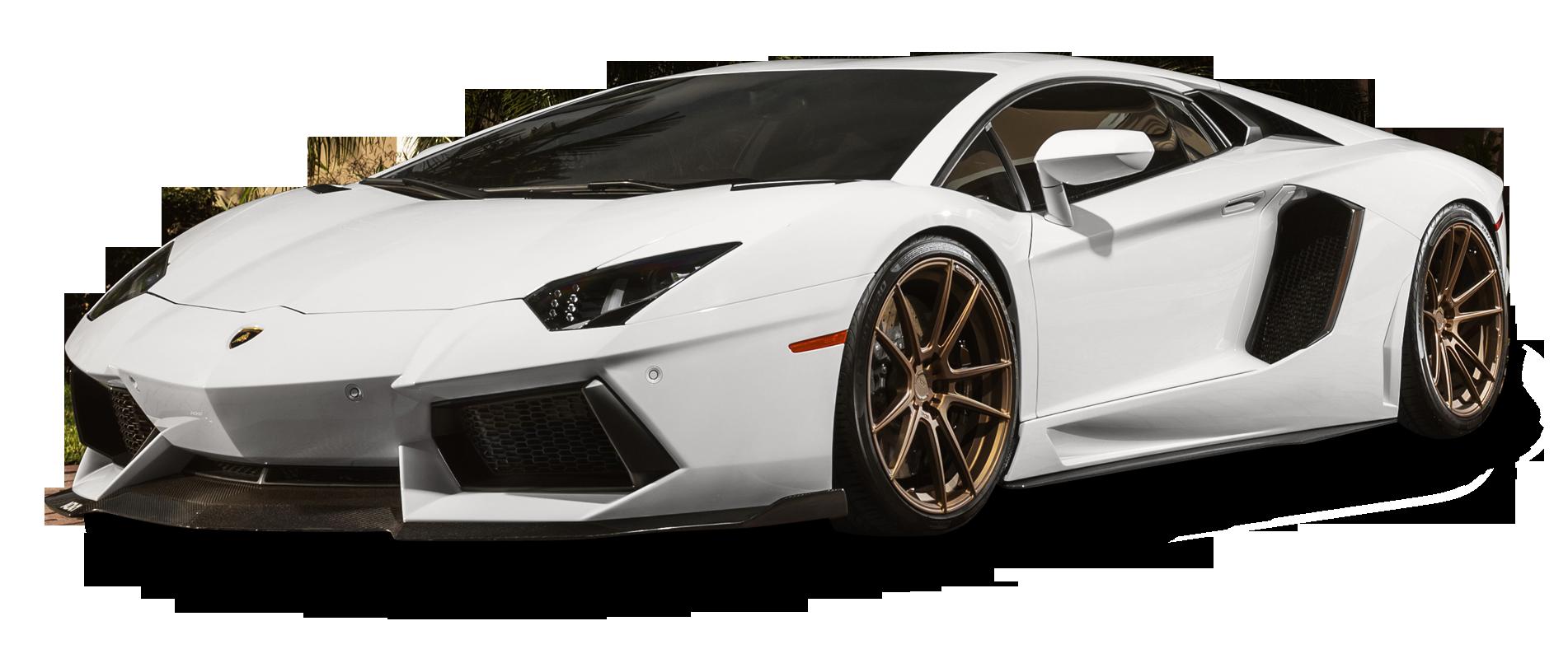 White Lamborghini Aventador Car PNG Image - PurePNG | Free ...
